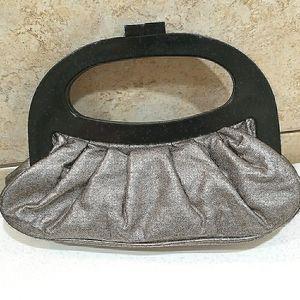 Braciano metallic hand bag